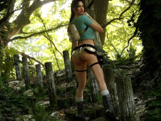 Lara in the Jungle Part 2 by 3DXArt