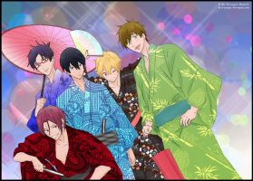 Fun at the Festival~ Free! by La-cruciatus