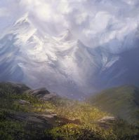 Toward the Mountain by allisonchinart