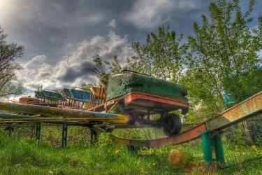 Abandoned carousel_1 by DDr3ams