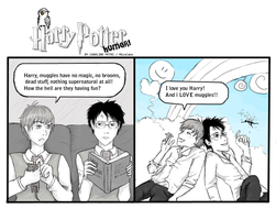 HarryPotter Humor - Muggle magic by MissCake