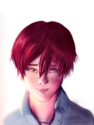 Red haired by DrawingMySoul