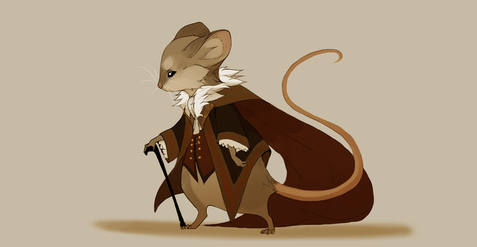mouse sir (open) by Grimmla