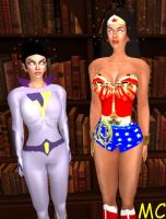Jayna And Wonder Woman Awaiting Orders by The-Mind-Controller