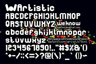 Artistic font by weknow