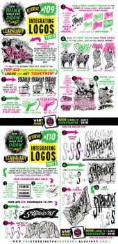 How to draw INTEGRATED LOGOS tutorial by STUDIOBLINKTWICE