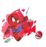 Chibi Spider-man by wooserr
