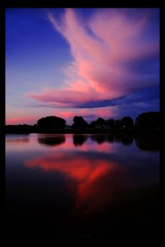 Sunset over Wetlands by atre