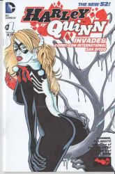 Venom Harley Quinn Sketch cover commission by rodneyfyke