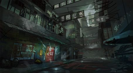 King Tong Street Concept by eWKn