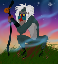 Rafiki Sitting by Unali