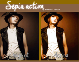 Sepia Action by Momo-Gazerock