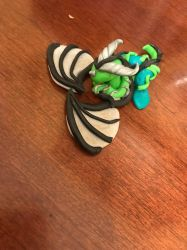 Small dragon polymer clay by IceEmbers