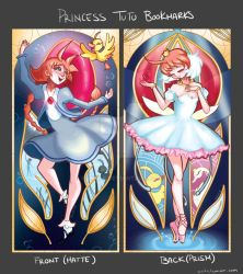 Magical Girl Nouveau: Princess Tutu Bookmarks by Vivifx