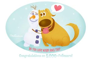 Disney | Pixar | Dug and Olaf by PolishTamales