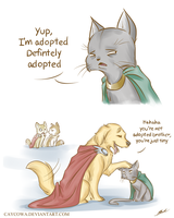 Lokitty and Dog Thor - Just Tiny by caycowa
