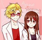 Yoosung x Ayano by PurrrfectArtist