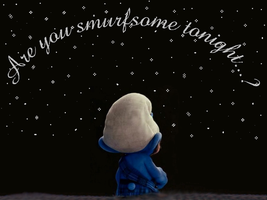 Are you smurfsome tonight? by LeelaComstock