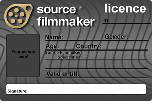 Source Filmmaker Licence V2 (Blank) by Nikolad92
