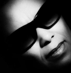 Woman Dark glasses by bulgphoto