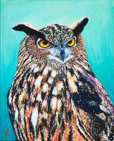 'Bubo' 2016 40x50cm by NickAndertonArt