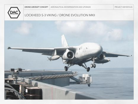 Lockheed S-3 Viking / Drone Evolution MKII by droneaircraftconcept