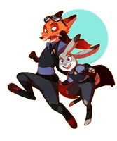 The Fox and The Bunny by TurningTides