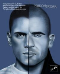 Scofield and Burrows from Prison Break  by FloraxDarkshines