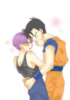 Trunks and Gohan in future by Natsuhati