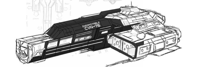 UNSC Indomitable Full -WIP- by Chris000