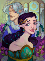 Luthien and Celegorm by Arboriss