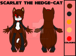Scarlet Ref sheet by KeyaraHedgehog09