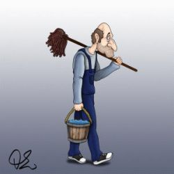 HandyMan - walk cycle by TheOhToons