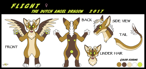 Flight the Dutch Angel Dragon (Fursuit ref) by WolfieMoonscar