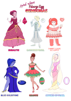 Faberge Gemsona Adopts (3/6 OPEN) by OriSODEhime