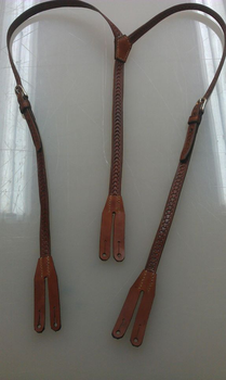 Leather suspenders by Kristiantyrann