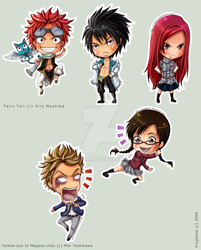 + : Stickers_FairyTail-YM : + by FrogHime