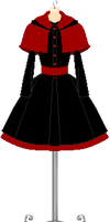 Black n Red Dress by MikaVKlover