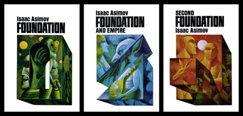 Foundation Series (Isaac Asimov) Book Covers by aldomann
