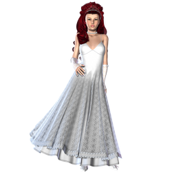 Woman in White Dress by RedHeadFalcon