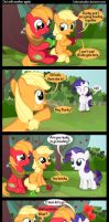 Out with another apple. by Coltsteelstallion