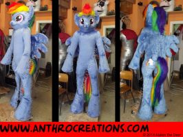 Rainbow Pony Finished Fursuit by AtalontheDeer