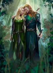 commission: Elf Couple by MathiaArkoniel