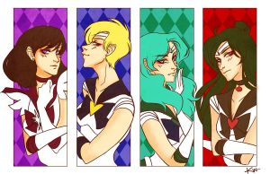 Dark Sailor Scouts by kmwoot