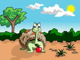 Turtle with an Apple by Fireberd904