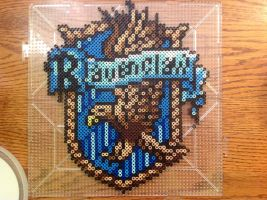 {Perler} Ravenclaw House Crest by OddishCrafts