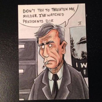 Cigarette Smoking Man by johnnyism