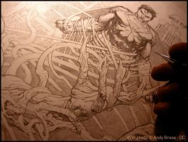Man of Steel : cover art (WIP) by andybrase