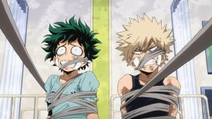 Deku and Kacchan bound and gagged by rollingthunder24