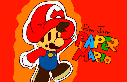 Paper Mario from Paper Jam by RobloxandMario